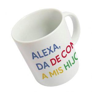 Taza «Alexa da de comer a mis hijos»