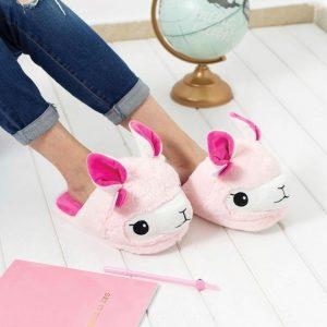 zapatillas_llama_rosa